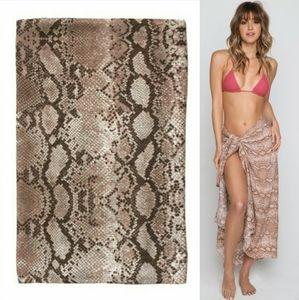 New acacia swimwear kuau pareo python sarong OS